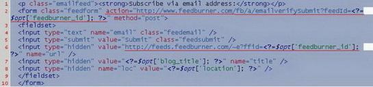 Подписка на wordpress через FeedBurner